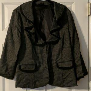 Ruffle collar blazer 3 for $10